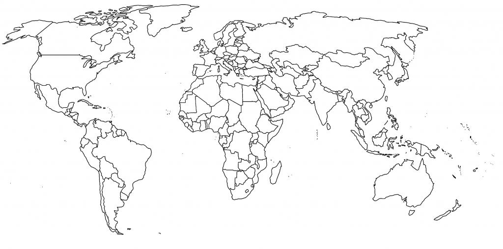 1  Missing Antartica But Crisp  Unlabeled World Continents regarding World Map Printable Color
