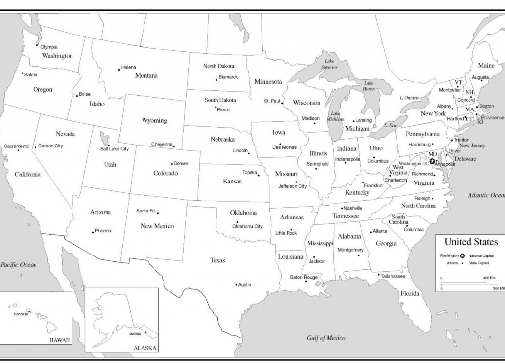 10 New Printable U.s. Map With States And Capitals | Printable Map with Printable Us Map With Capitals