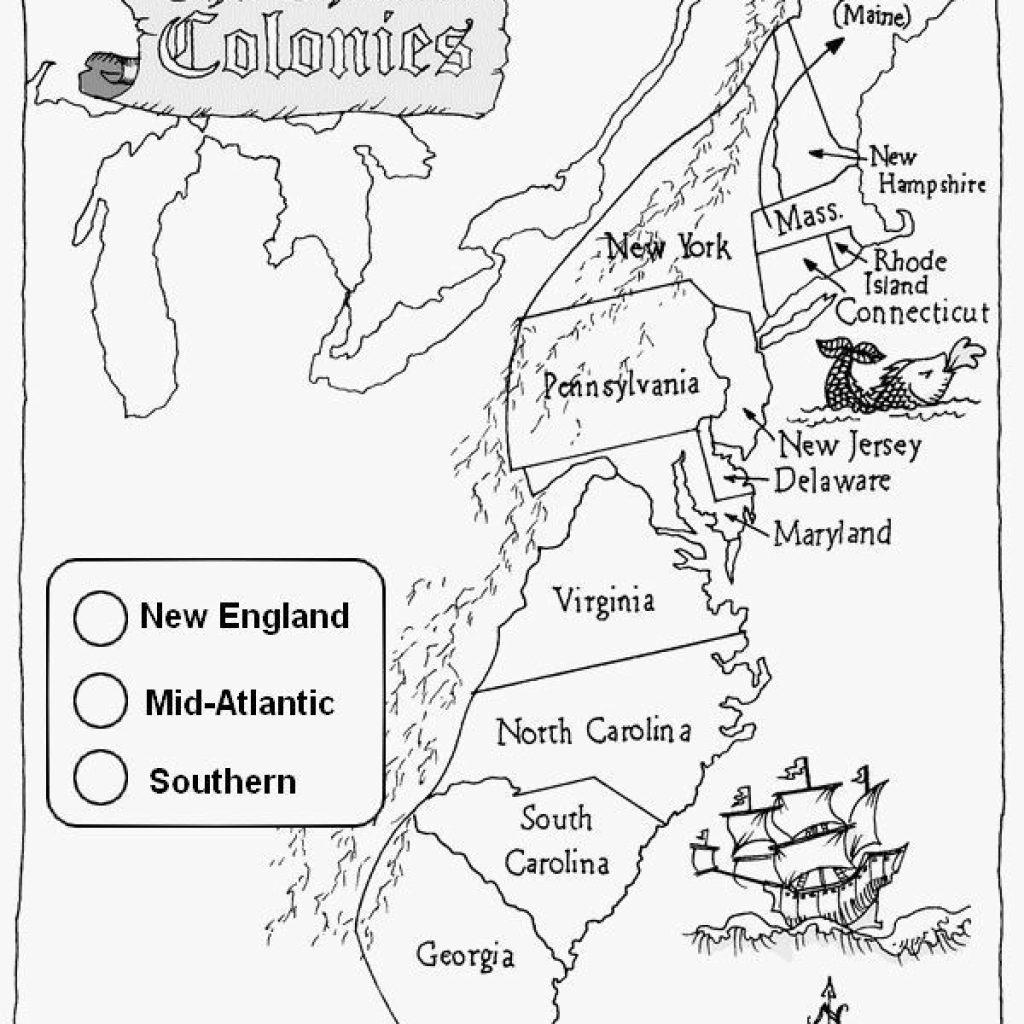 13 Colonies Map Printable Worksheet Best Of Third Grade inside 13 Colonies Map Printable