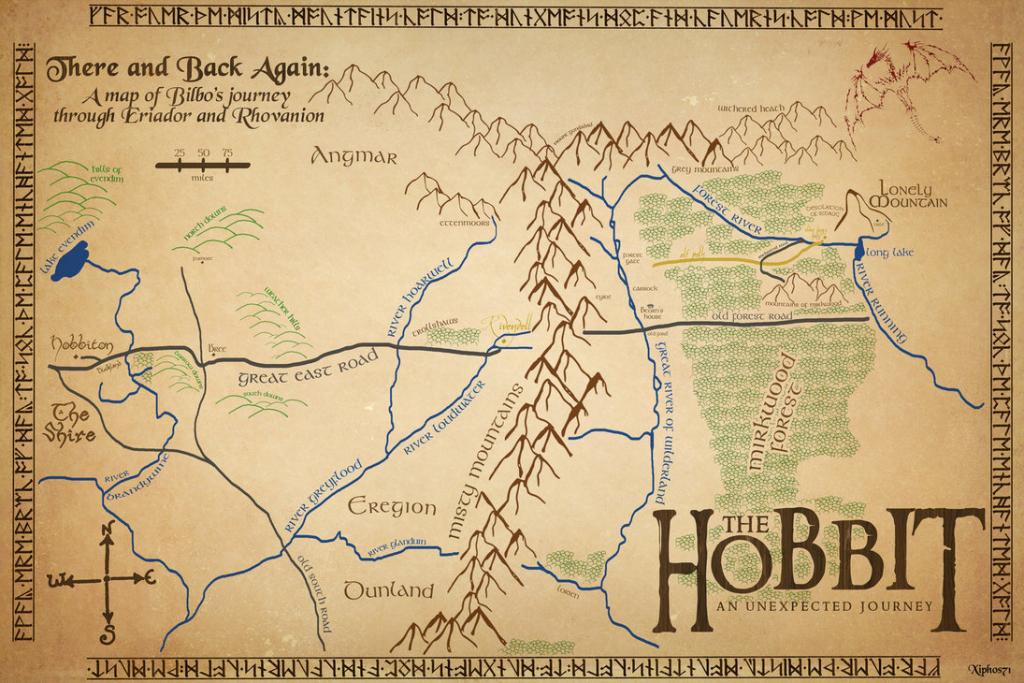 14 Best Photos Of Hobbit Map Printable - Hobbit Map, Hobbit Birthday intended for Printable Hobbit Map