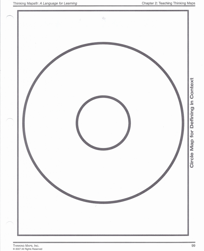 Circle Map Template Printable