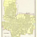 1901 Antique Columbus City Map Reproduction Print Of Columbus Ohio Pertaining To Printable Map Of Columbus Ohio