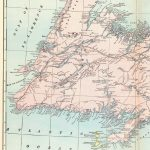 1902 Antique Newfoundland Map Of Newfoundland Canada Print Vintage In Printable Map Of Newfoundland