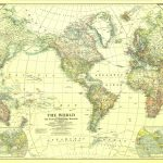 1922 World Mapthe National Geographic Society [3 495 X 2 374 Intended For National Geographic Printable Maps