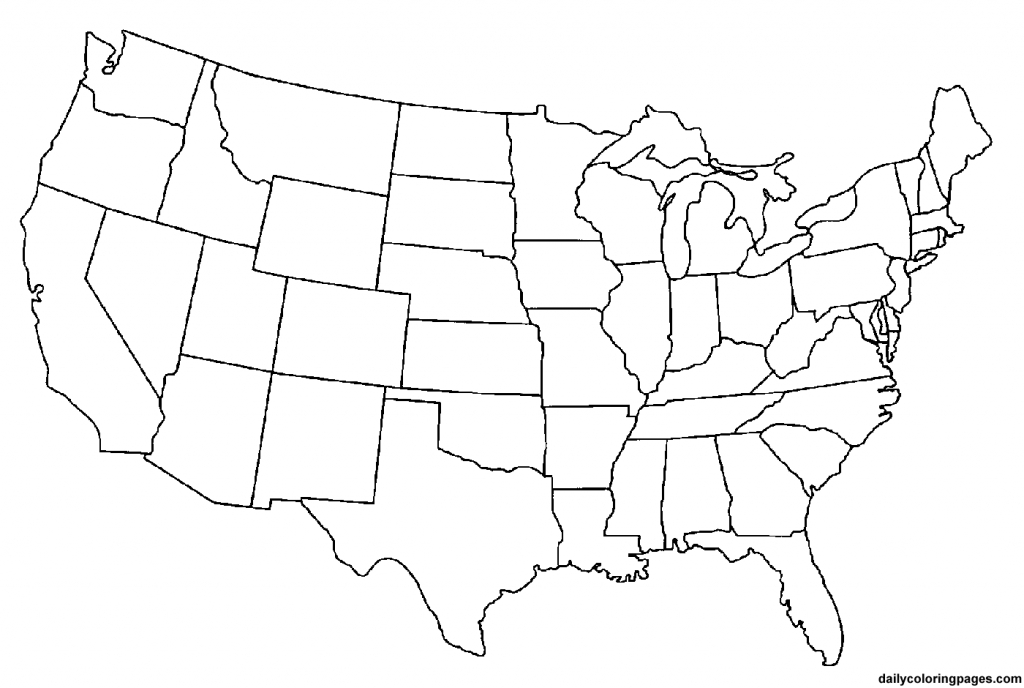 2 Page United States Map pertaining to Printable Blank Usa Map