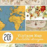 20 Free Vintage Map Printable Images | Remodelaholic #art In Free Printable Maps