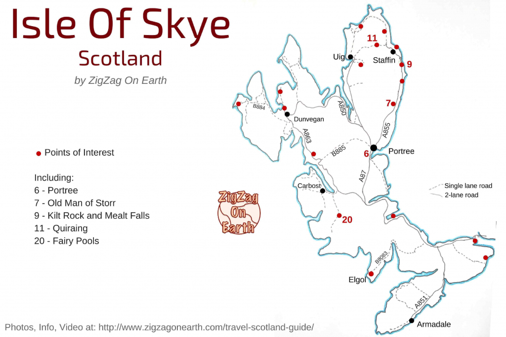 20 Things To Do In Skye Island Scotland – Photos, Info (+ Isle Of in Printable Map Skye