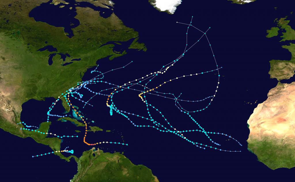 2016 Atlantic Hurricane Season - Wikipedia within Printable Hurricane Tracking Map 2016