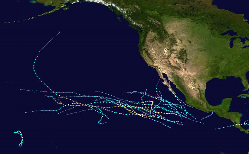 2016 Pacific Hurricane Season - Wikipedia throughout Printable Hurricane Tracking Map 2016