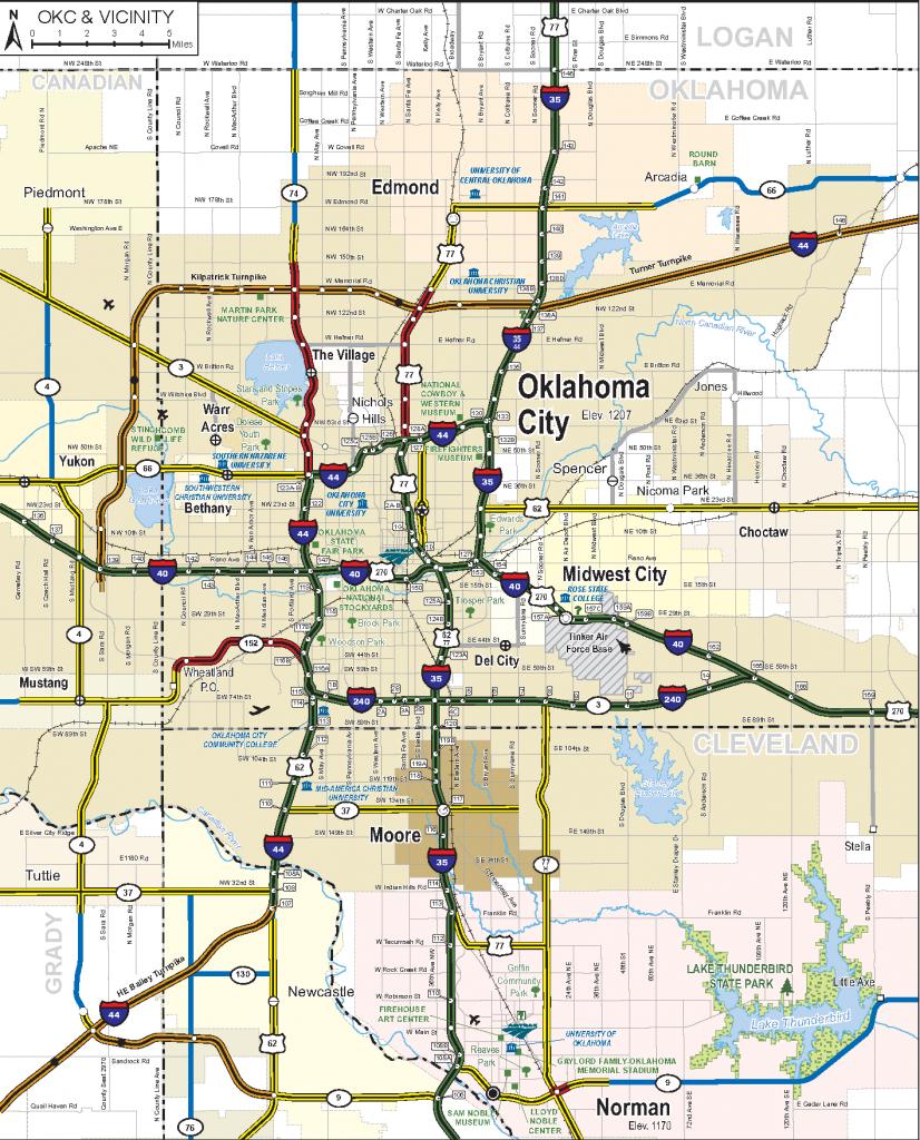 2019-2020 State Map regarding Oklahoma State Map Printable