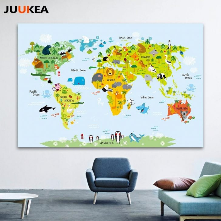 Kid Friendly World Map Printable