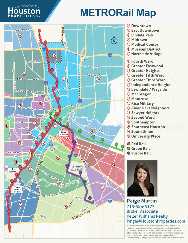 2019 Update: Houston Metro Rail Map - Neighborhoods Near Metrorail inside Downtown Houston Map Printable