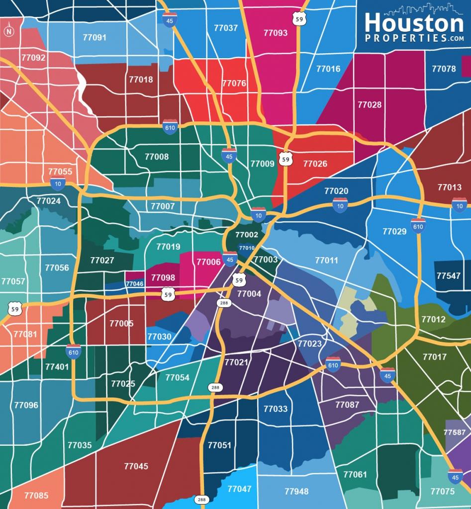 2019 Update: Houston Texas Zip Code Map   Houstonproperties with Houston Zip Code Map Printable