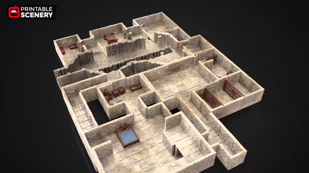 3D Printable Dungeon Tiles - Youtube pertaining to Printable D&d Map Tiles