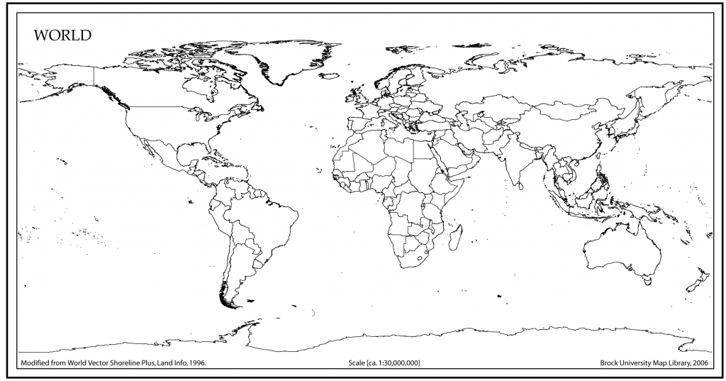 5 Outline Map Of World - My Blog in World Map Outline Printable Pdf
