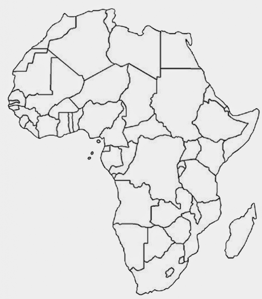 5 Outline Maps Africa - My Blog with regard to Africa Outline Map Printable