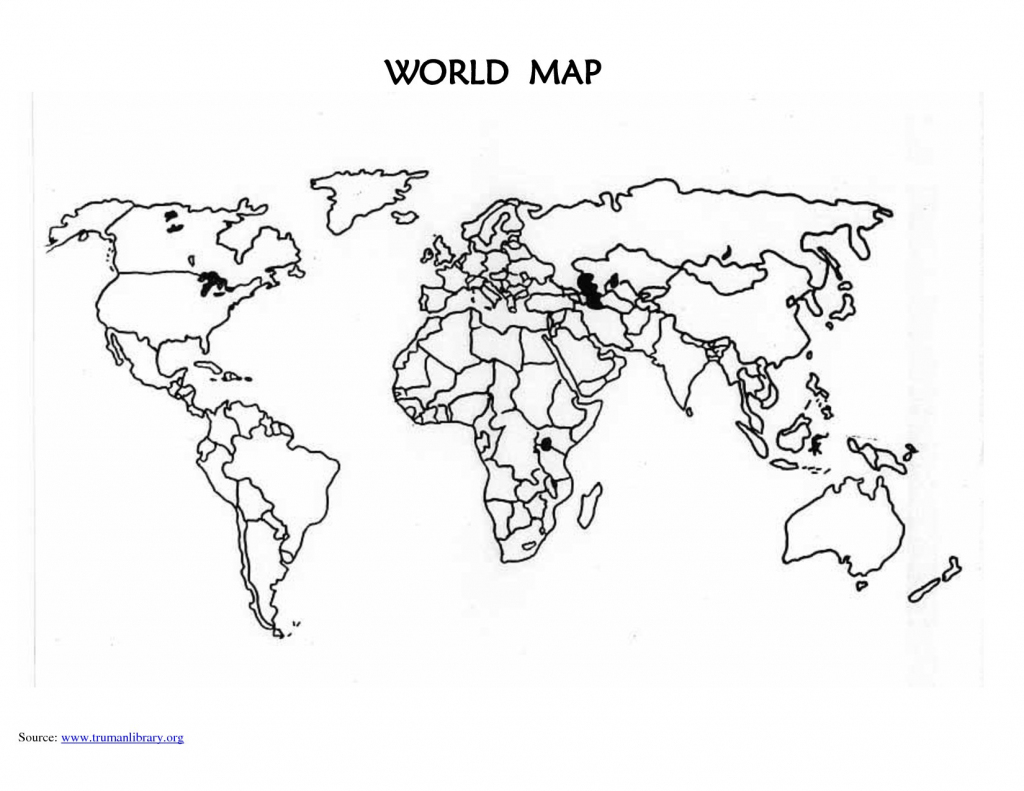 5 Outline Of World Map Printable - Anime And Game - Anime And Game for Blank World Map Countries Printable