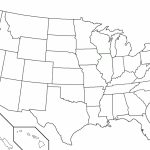 50 States Blank Map | Camping Map For Printable 50 States Map