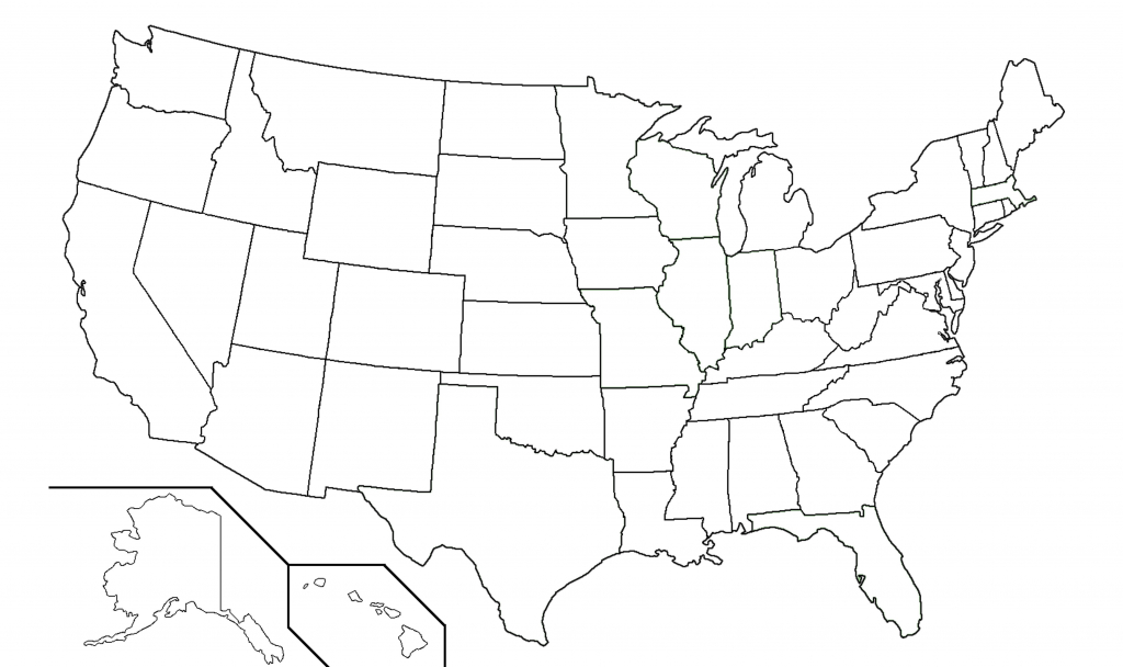 50 States Blank Map   Camping Map for Printable 50 States Map