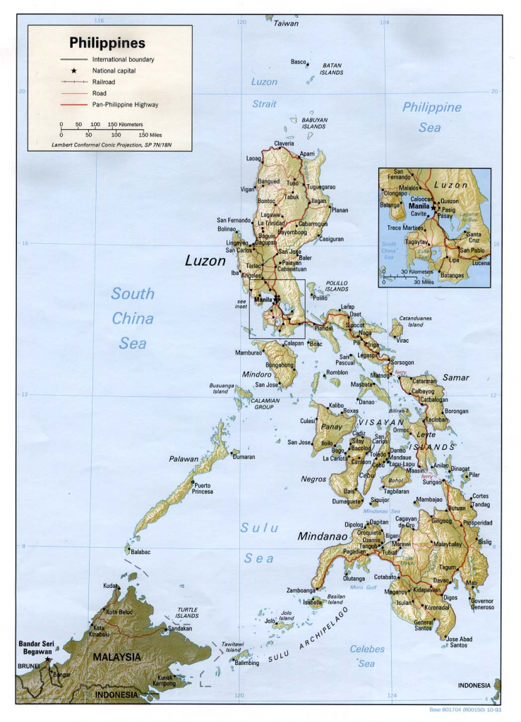 6 Free Maps Of The Philippines - Asean Up pertaining to Free Printable Map Of The Philippines