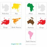 7 Continents Coloring Page | Free Download Best 7 Continents With Montessori World Map Free Printable