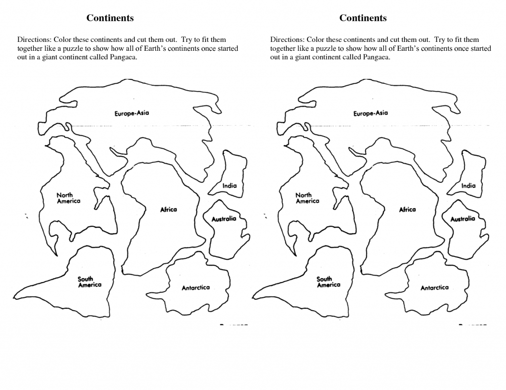 7 Continents Cut Outs Printables   World Map Printable   World Map with regard to 7 Continents Map Printable