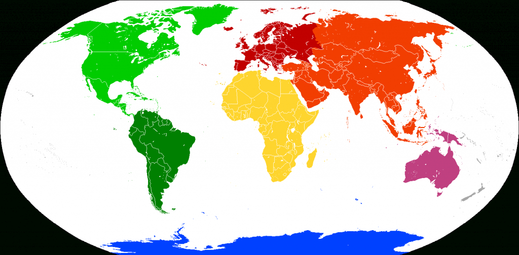 7 Continents Map | Science Trends inside Seven Continents Map Printable