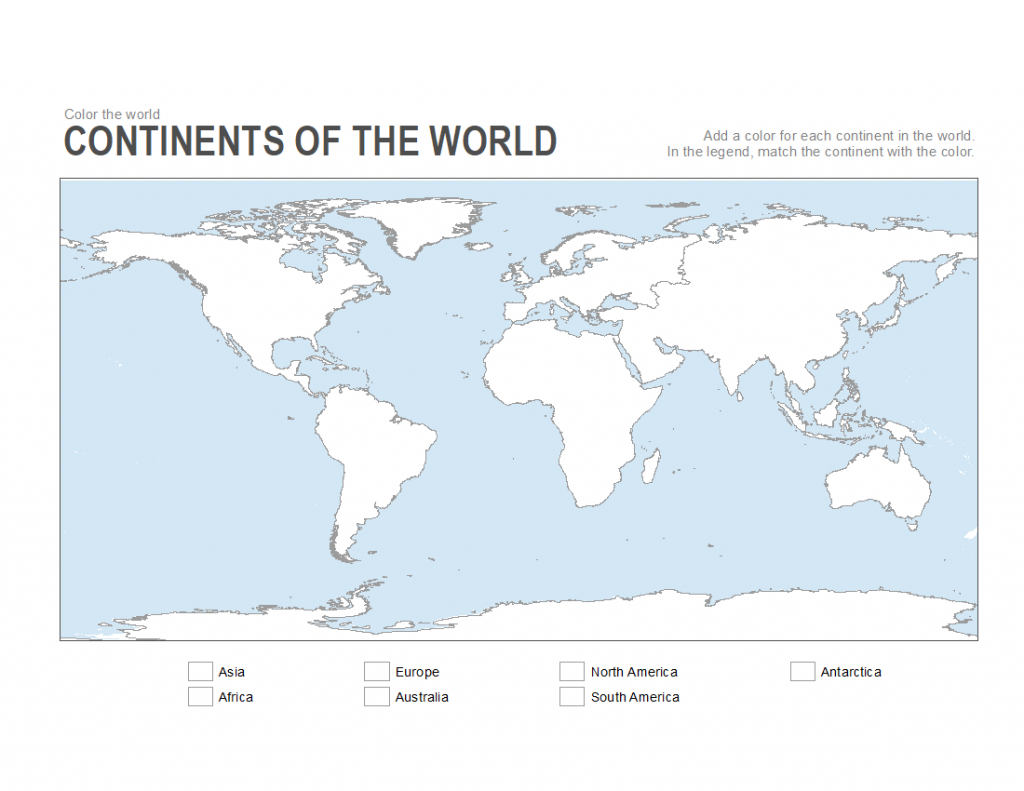 7 Printable Blank Maps For Coloring Activities In Your Geography inside Seven Continents Map Printable