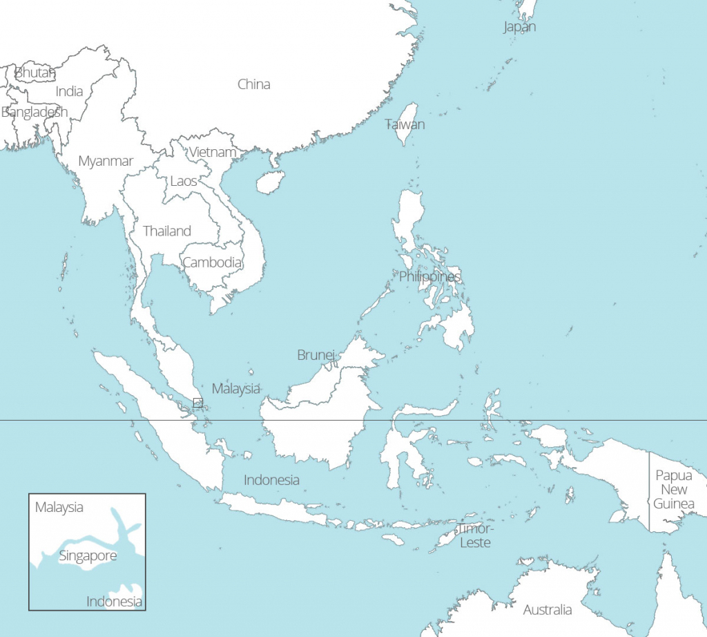 8 Free Maps Of Asean And Southeast Asia - Asean Up within Printable Map Of Southeast Asia