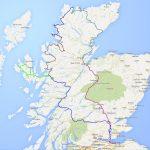 A 7 Day Road Trip Through Rural Scotland – Virtualwayfarer Regarding Detailed Map Of Scotland Printable