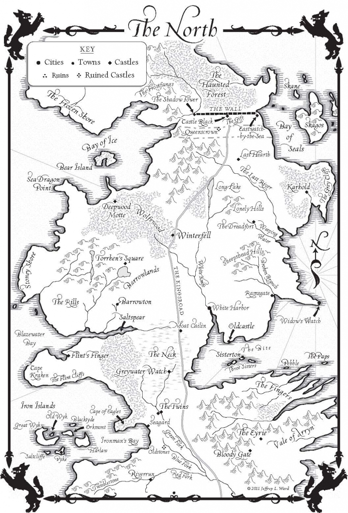 A Game Of Thrones – Maps - Random House Books pertaining to Game Of Thrones Printable Map