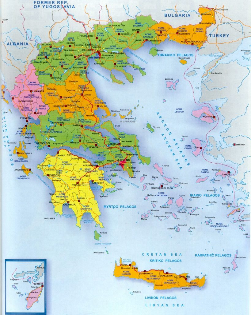 A Map Of Greece And The Greek Islands with regard to ...