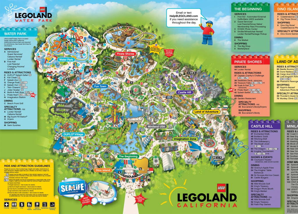 A Map Of Legoland California | Legoland California Resort; Carlsbad regarding Legoland California Printable Map