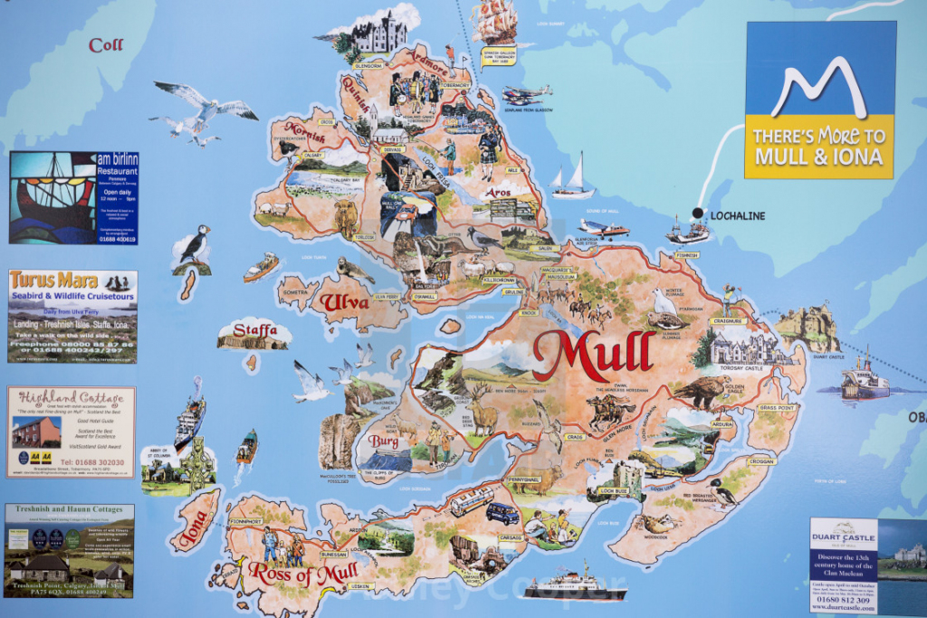 A Map Of The Isle Of Mull, Scotland, Uk. - License, Download Or for Printable Map Of Mull