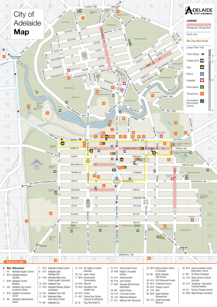Adelaide Maps | Australia | Maps Of Adelaide inside Printable Map Of Adelaide Suburbs