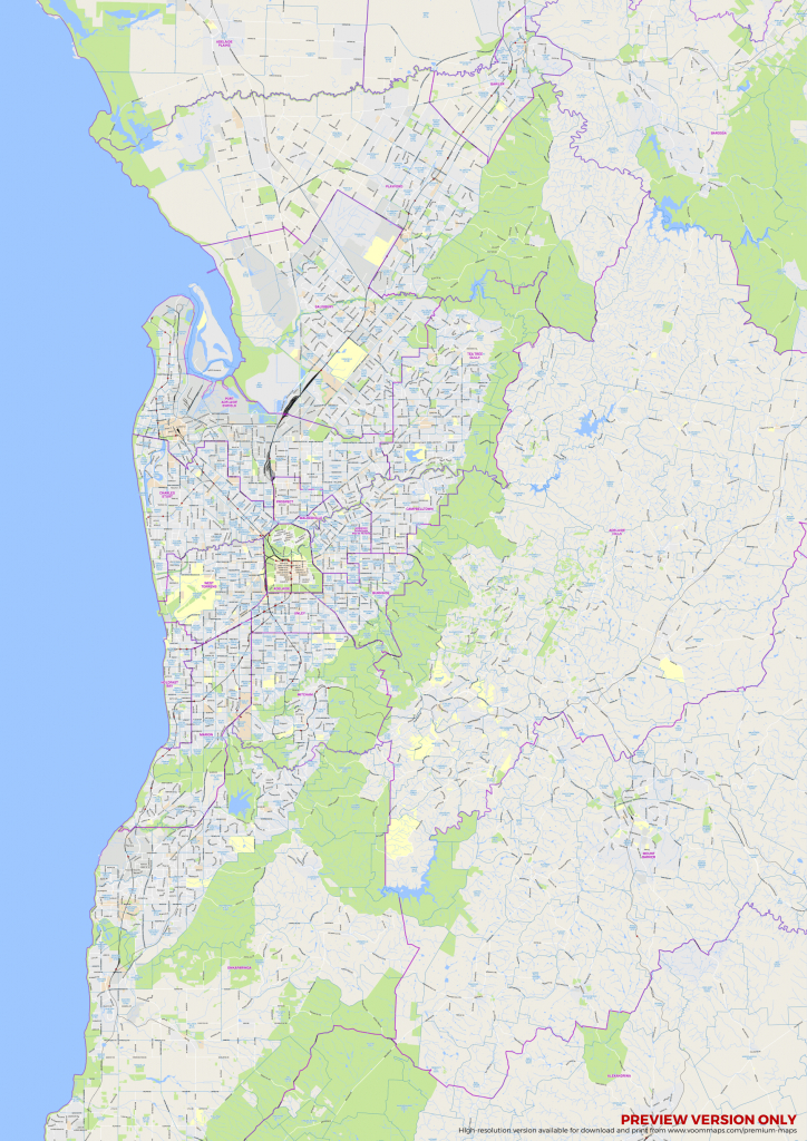 Adelaide Suburbs Map – Voommaps in Printable Map Of Adelaide Suburbs