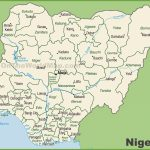 Administrative Divisions Map Of Nigeria With Printable Map Of Nigeria
