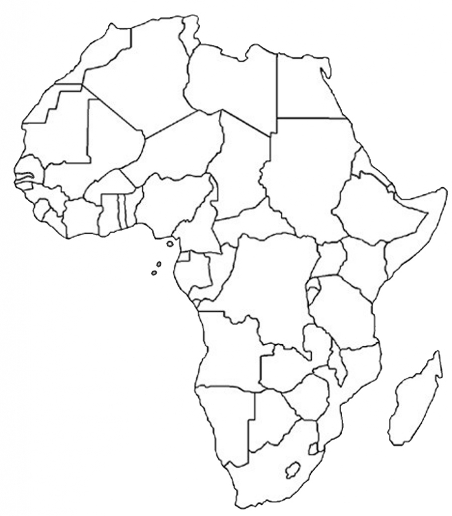 Africa Map With Countries Unlabelled   Biofocuscommunicatie in Printable Blank Map Of Africa