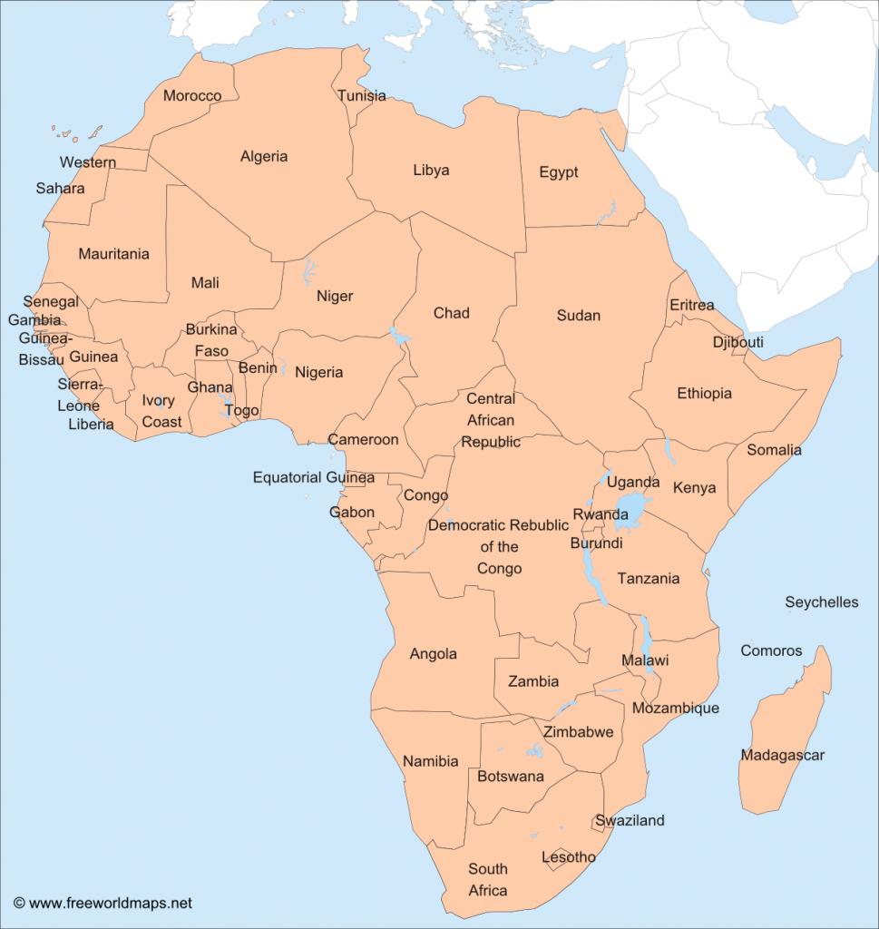 Africa – Printable Maps –Freeworldmaps inside Printable Map Of Africa