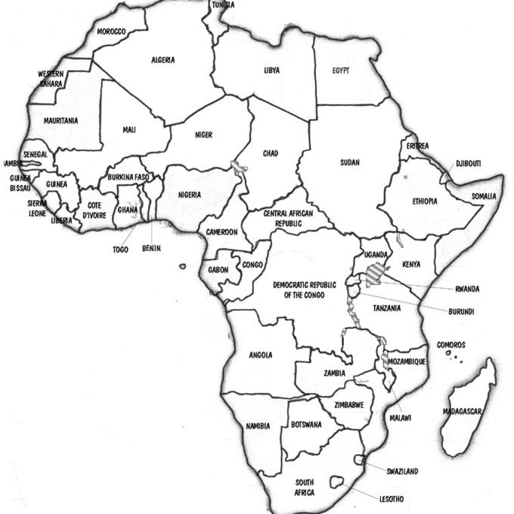 African Map Quiz Printable Blank Of Africa Fill In in Africa Map Quiz Printable