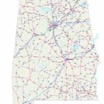 Alabama Maps   Free Printable Alabama Road Maps In Printable Map Of Alabama