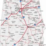 Alabama State Road Map | Afputra With Printable Alabama Road Map