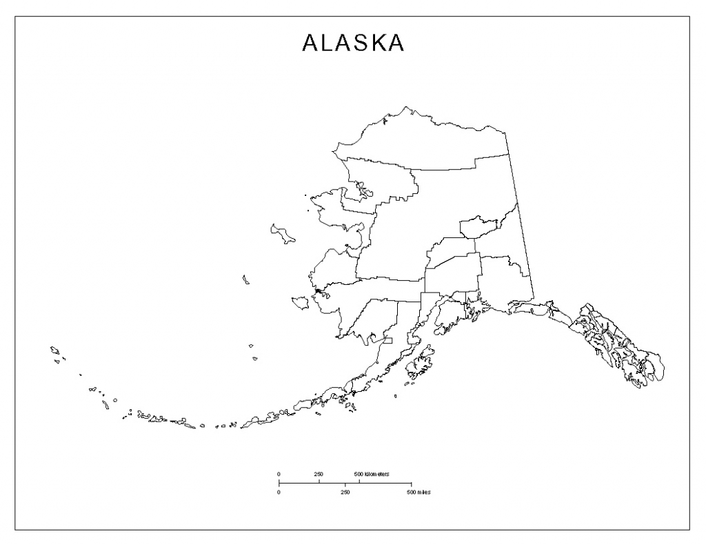 Alaska Blank Map regarding Alaska State Map Printable