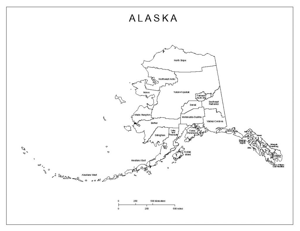 Alaska Labeled Map inside Printable Map Of Alaska