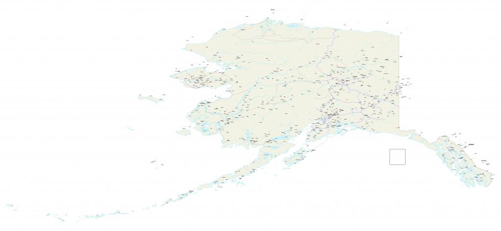 Alaska Map - Us Alaska Maps Free - Free Printable Alaska Road Maps for Free Printable Map Of Alaska