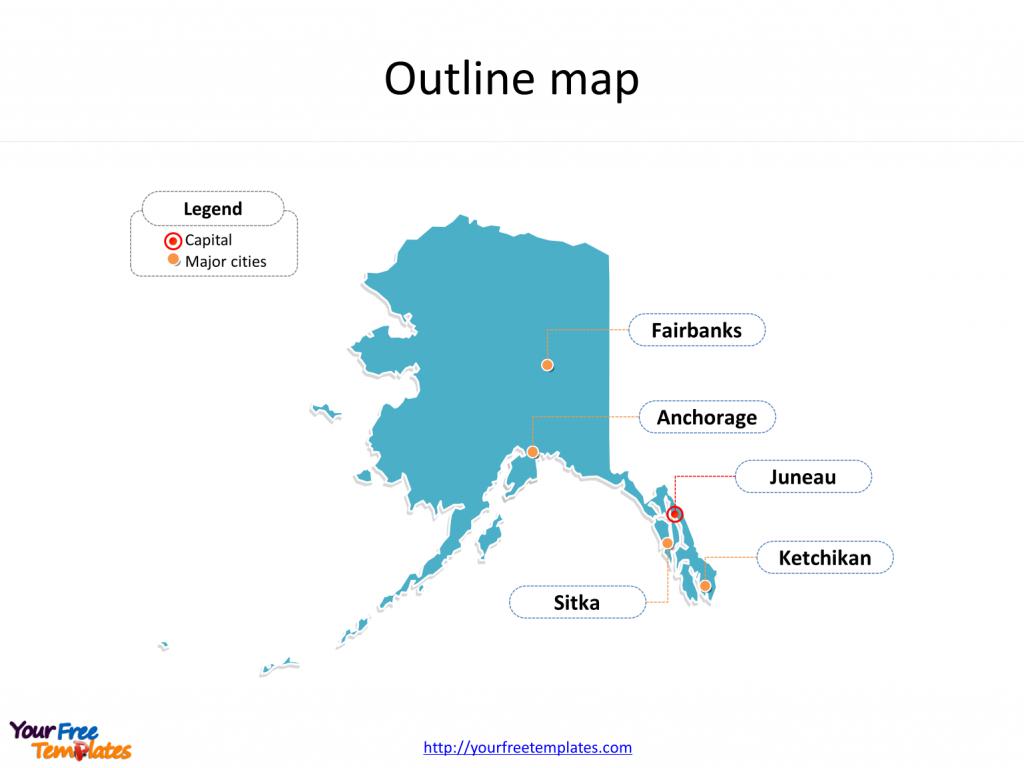 Alaska Maps Online Powerpoint Templates - Free Powerpoint Templates within Free Printable Map Of Alaska