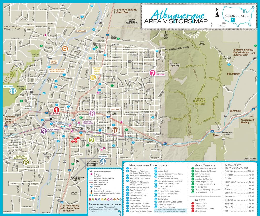 Albuquerque Maps | New Mexico, U.s. | Maps Of Albuquerque pertaining to Printable Map Of New Mexico