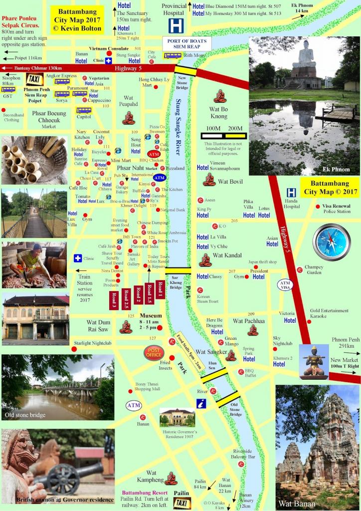 All About Battambang : Battambang & Pailin City Street Map / Town in Printable City Street Maps
