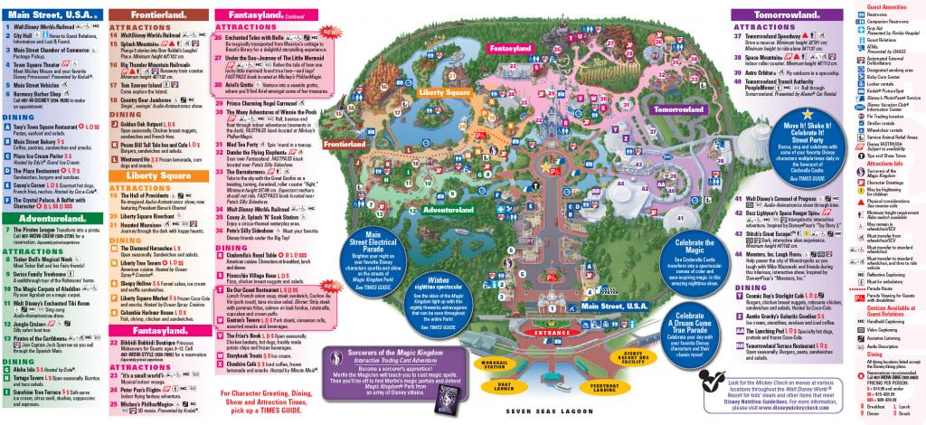 All Walt Disney World Resort Theme Park Maps | Meet The Magic in Walt Disney World Printable Maps