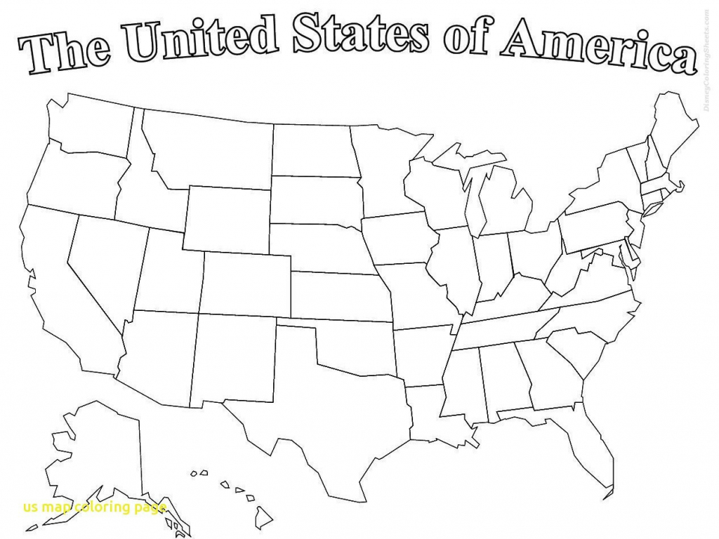 America Map Coloring Pages Fresh Printable Map The United States pertaining to United States Color Map Printable